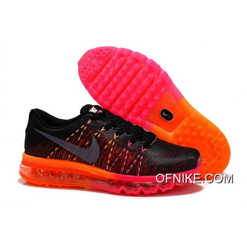 new product 5c8f3 dec41 Nike Air Max 2014 Flyknit Black Red Orange Discount ...