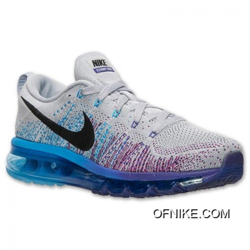 a0cc3c6c278b Nike Women Flyknit Air Max Grey Purple Blue Best ...
