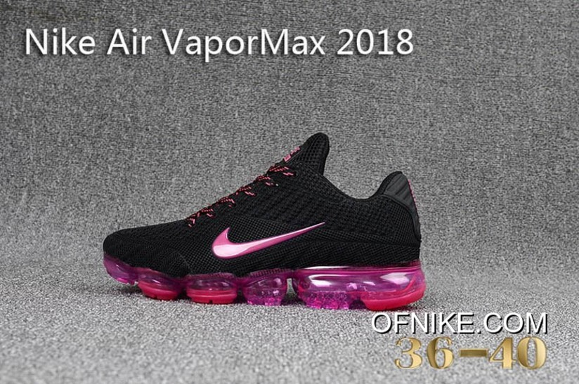 designer fashion 3b6e4 b46f0 Big Deals Nike Air Vapormax 2018 Women Black Pink